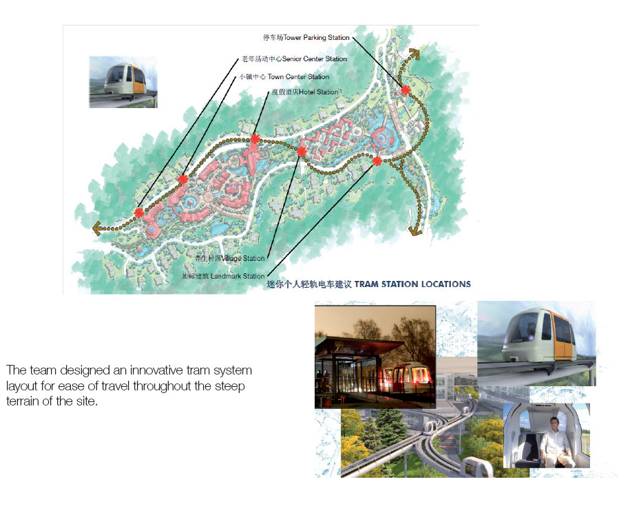 China Senior Living Zibo Land Planner Tram System People Mover