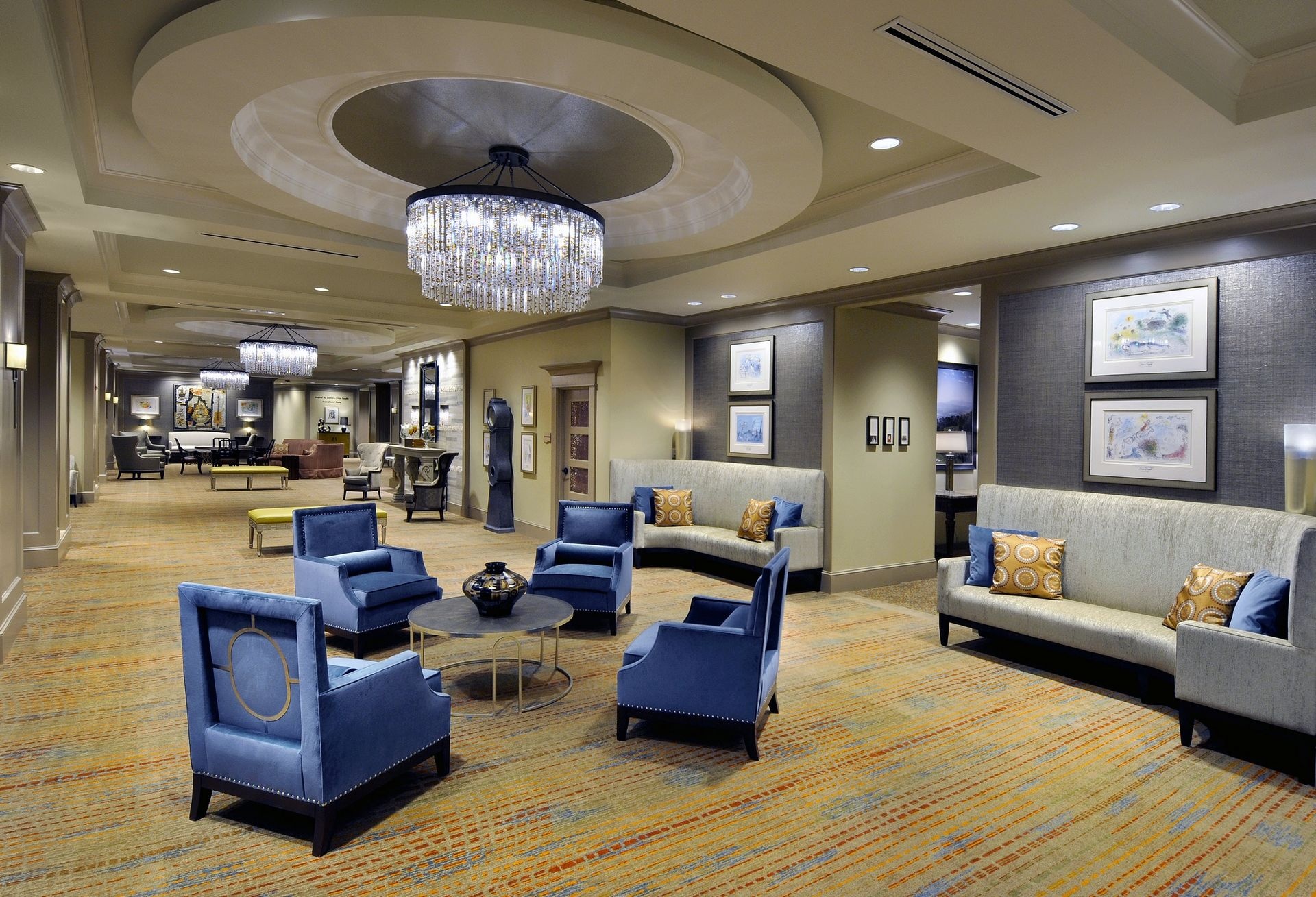 Berman Commons | Assisted Living And Memory Care Design THW Lobby View 2
