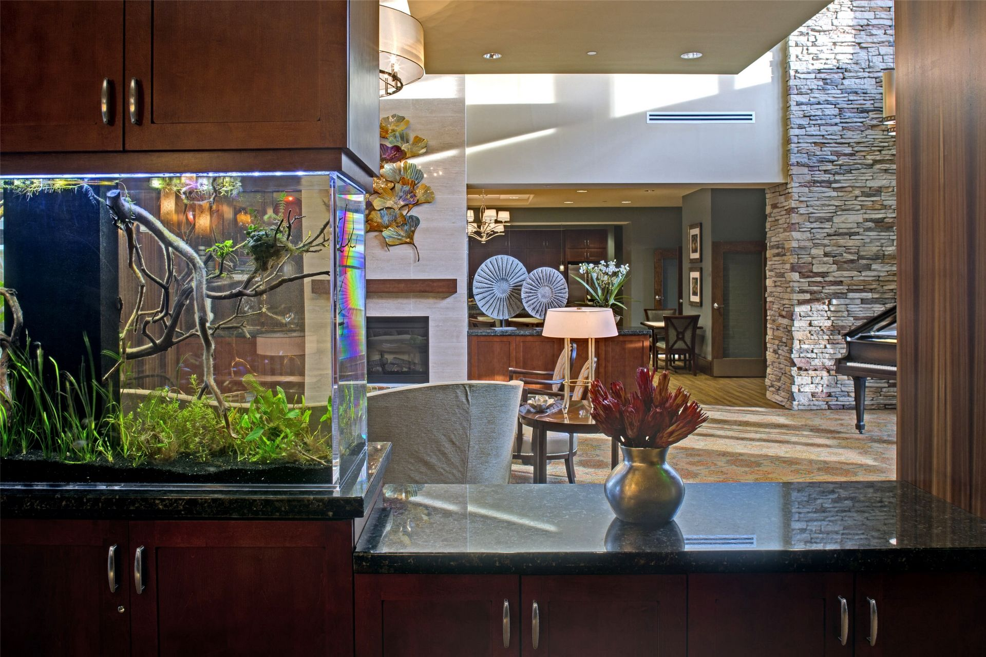 Cohen Rosen House, Rockville | Charles E. Smith | Assisted Living, Memory Care Design THW Water Feature Interior