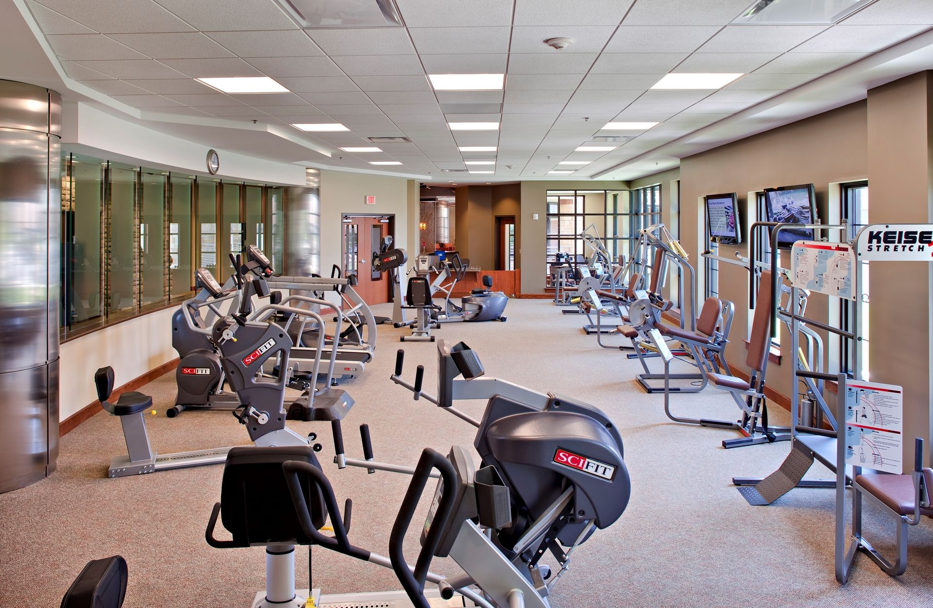 Lakeview Village Retirement Skilled Nursing and Rehab Senior Living Design THW Fitness Room