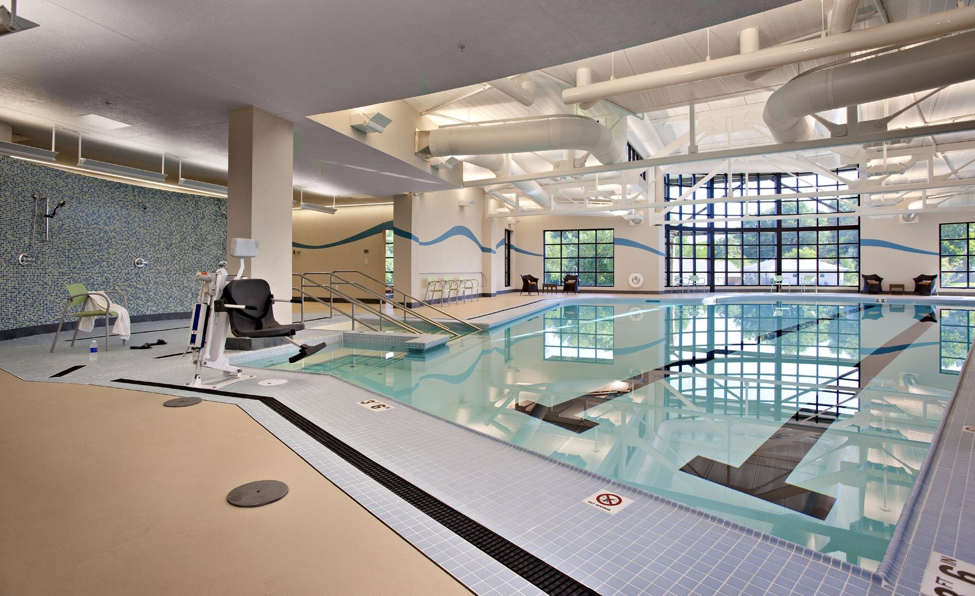 Lakeview Village Retirement Skilled Nursing and Rehab Senior Living Design THW Wellness pool 2