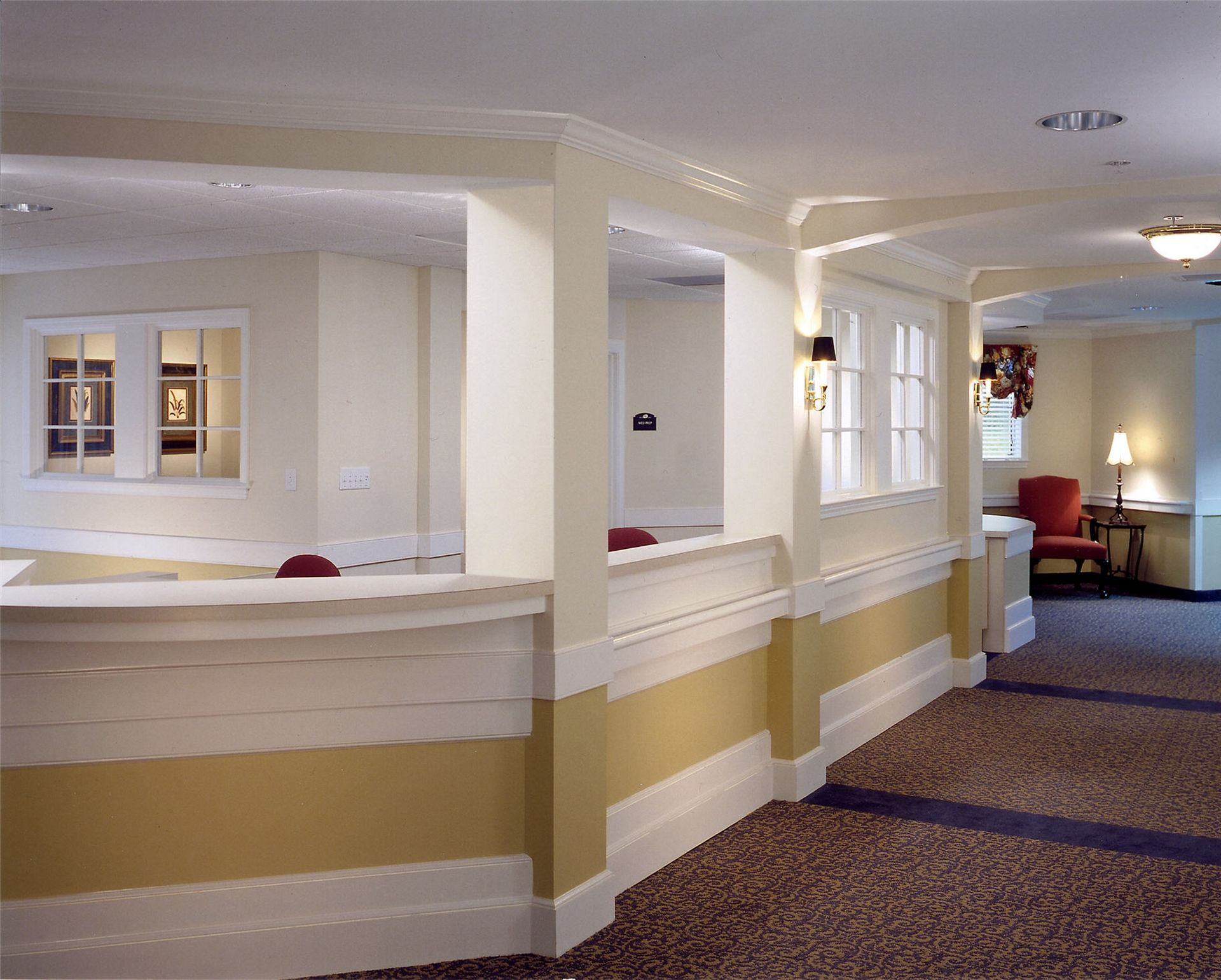 Lanier Village Estates, Gainesville, GA | Continuing Care Retirement Community Senior Living Design THW Nurses Station