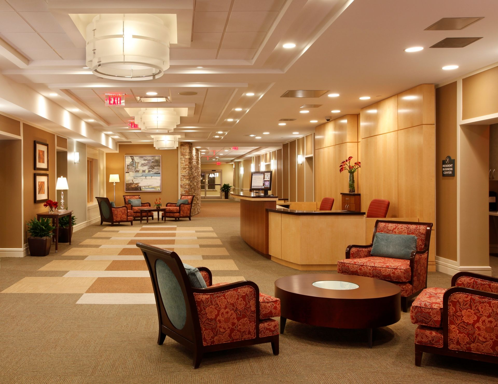 THW | Marquette | Reception Hall | Senior Living Design