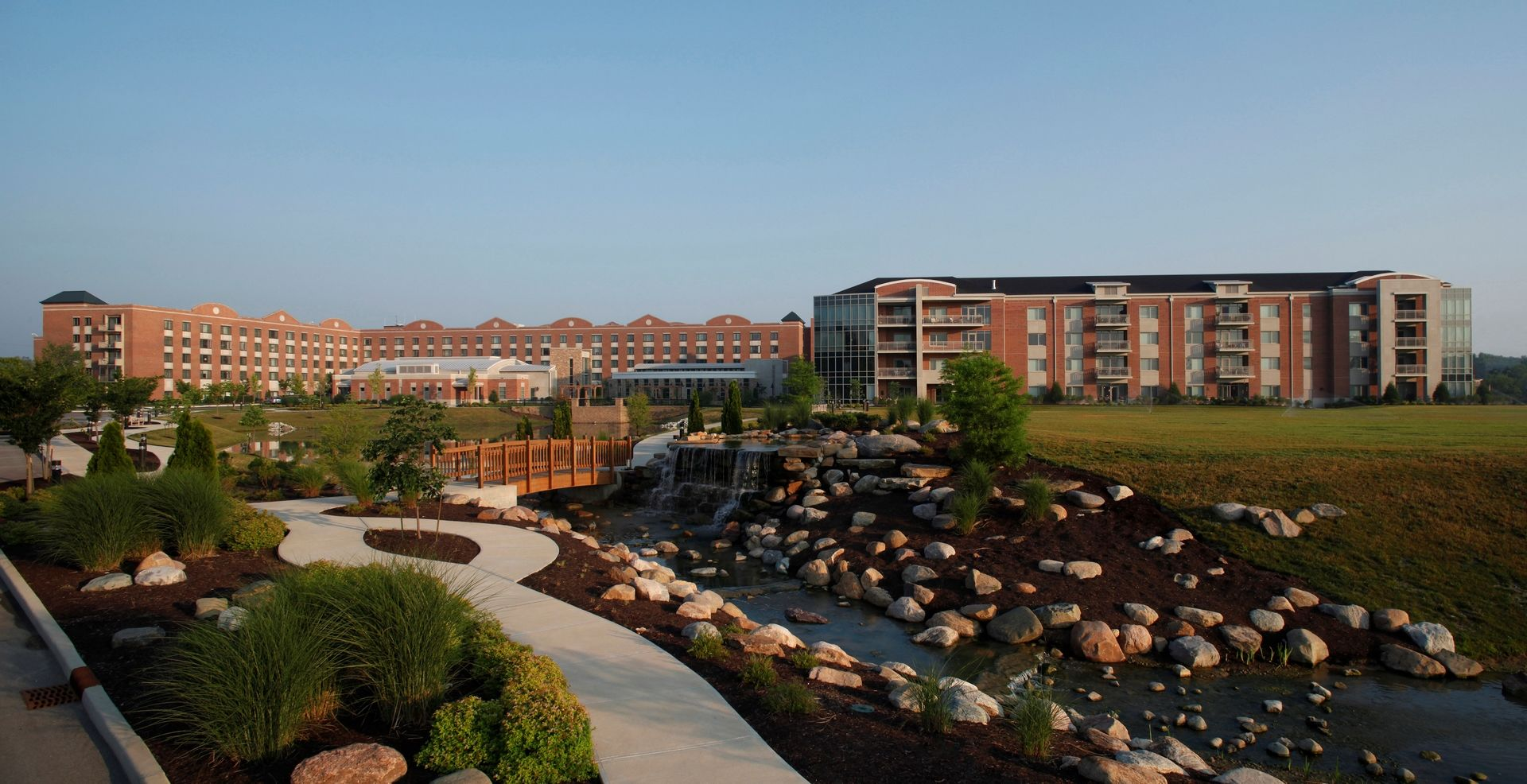 THW | Marquette | View from Waterfall Bridge | Senior Living Design