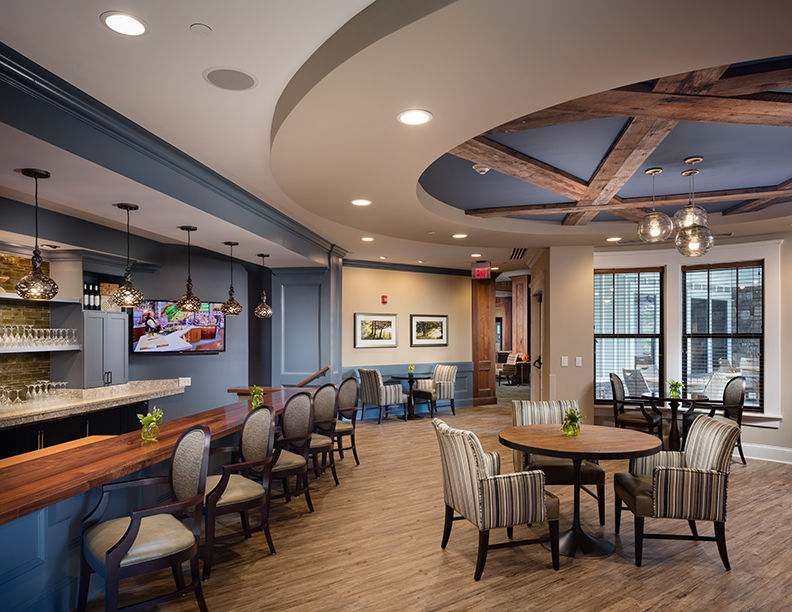 The Glen at Lake Oconee Bar & Lounge THW Senior Living Architects and Interior Designer