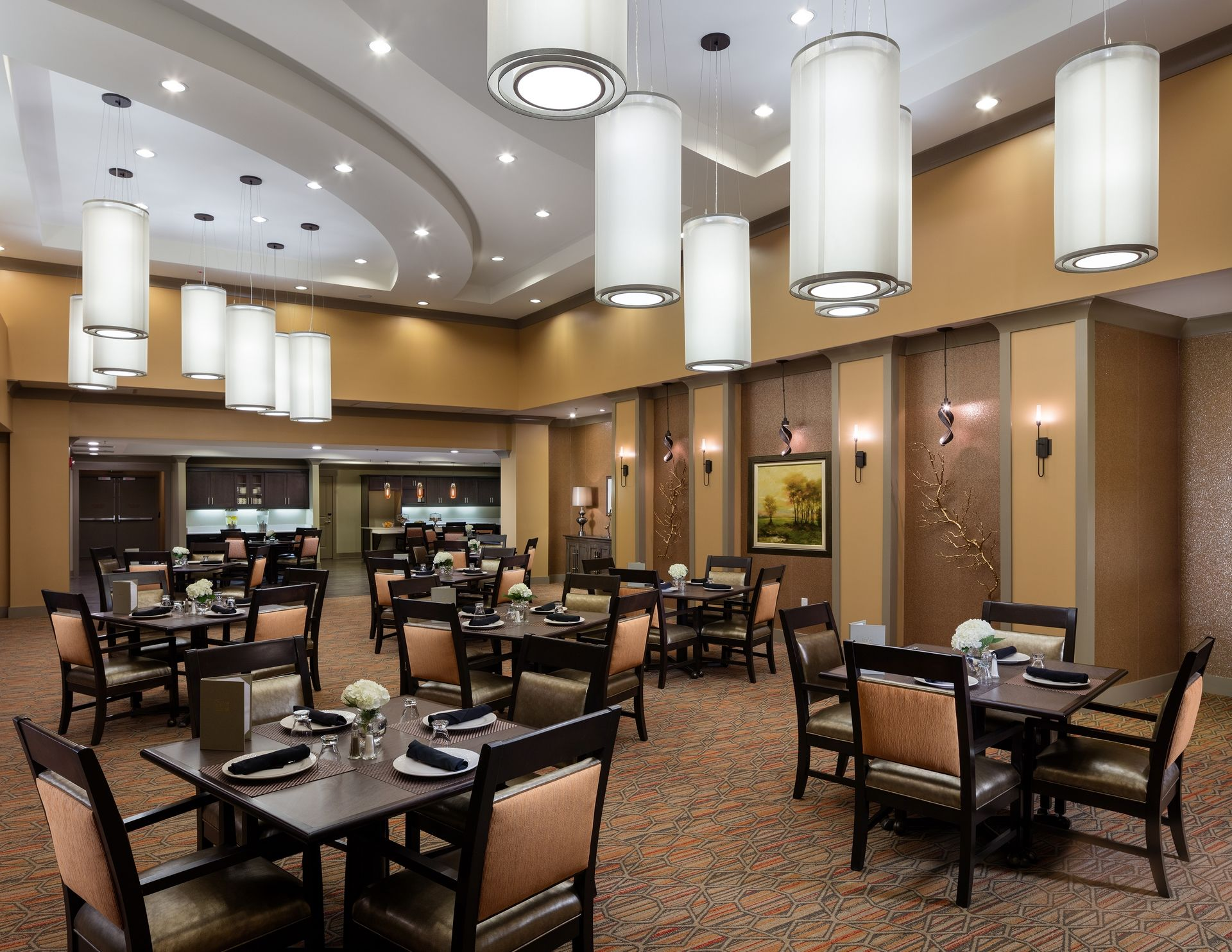 Thrive Athens Memory Care Dining Room Dementia Assisted Living THW senior living architects