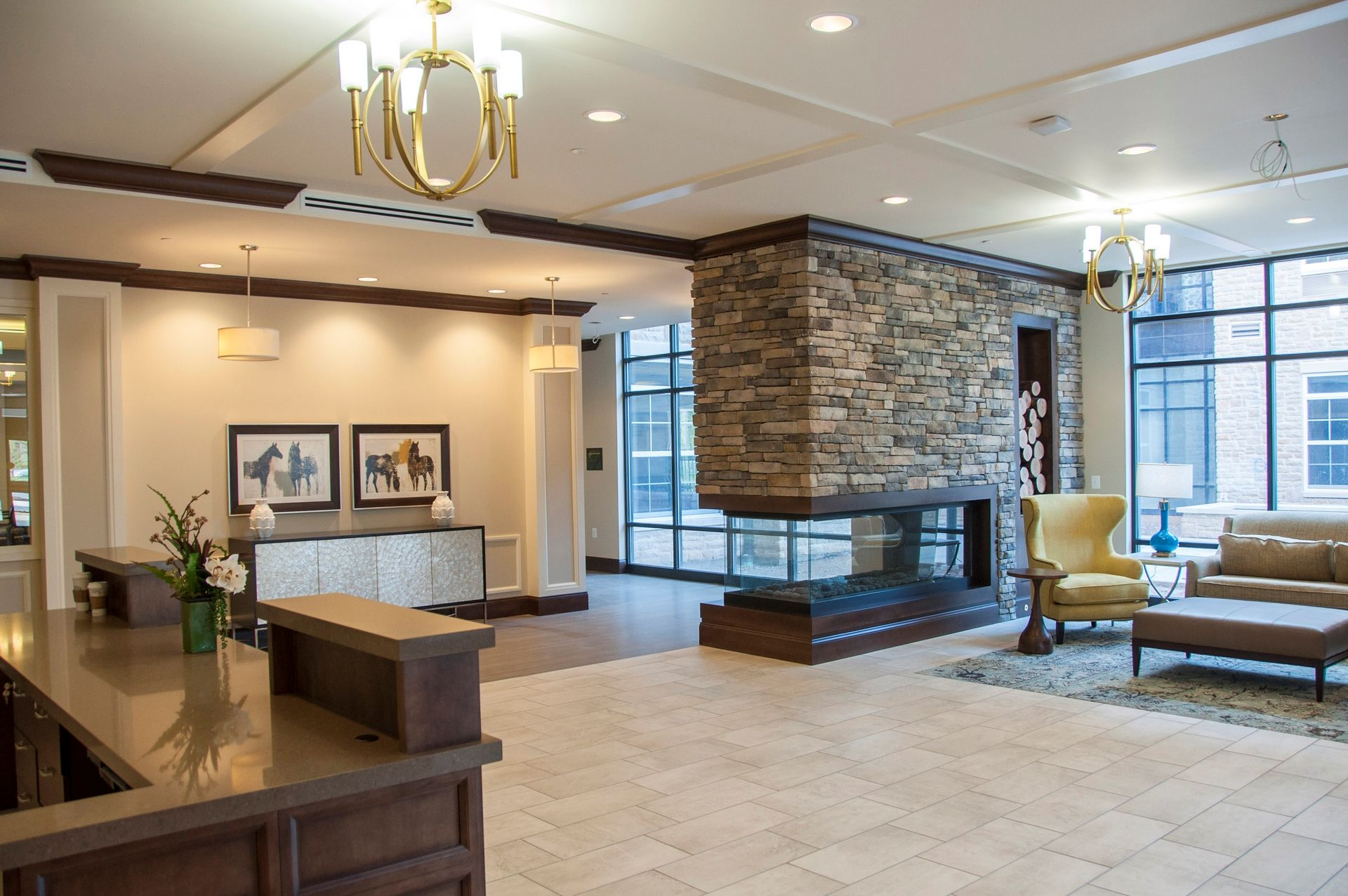 Tribute at Heritage Village Assisted Living Design THW Lobby