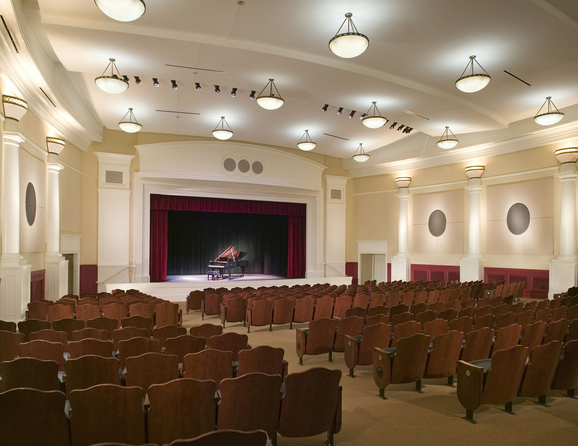Westminster Canterbury Richmond CCRC auditorium THW Design Senior Living