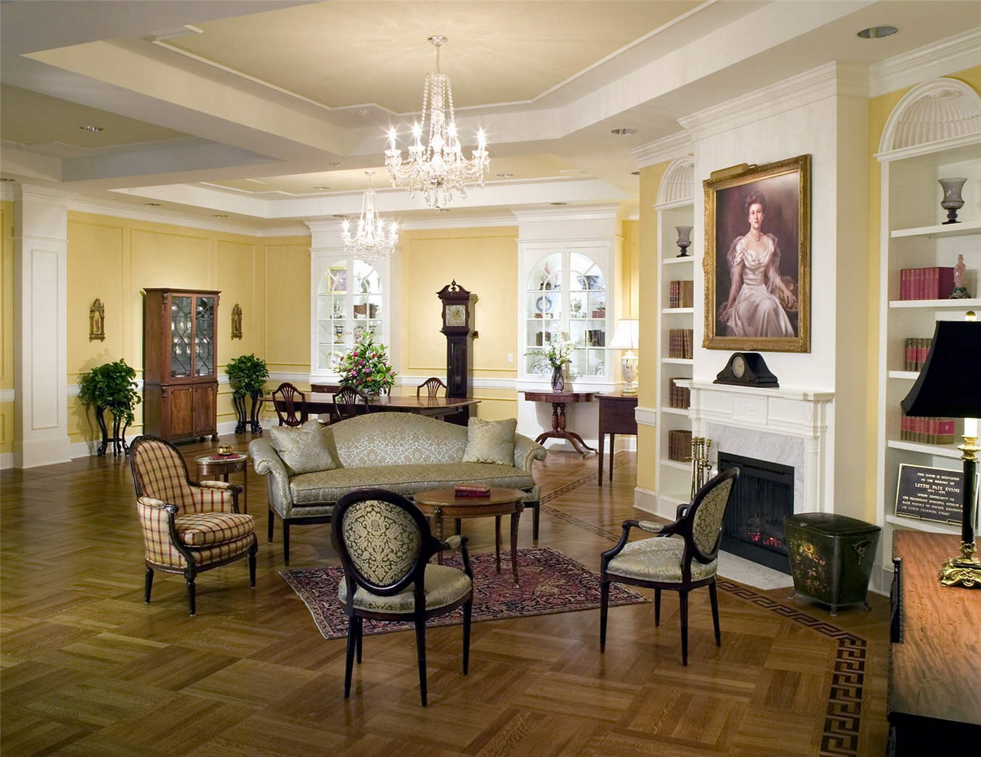 Westminster Canterbury Richmond CCRC Living Room THW Design Senior Living