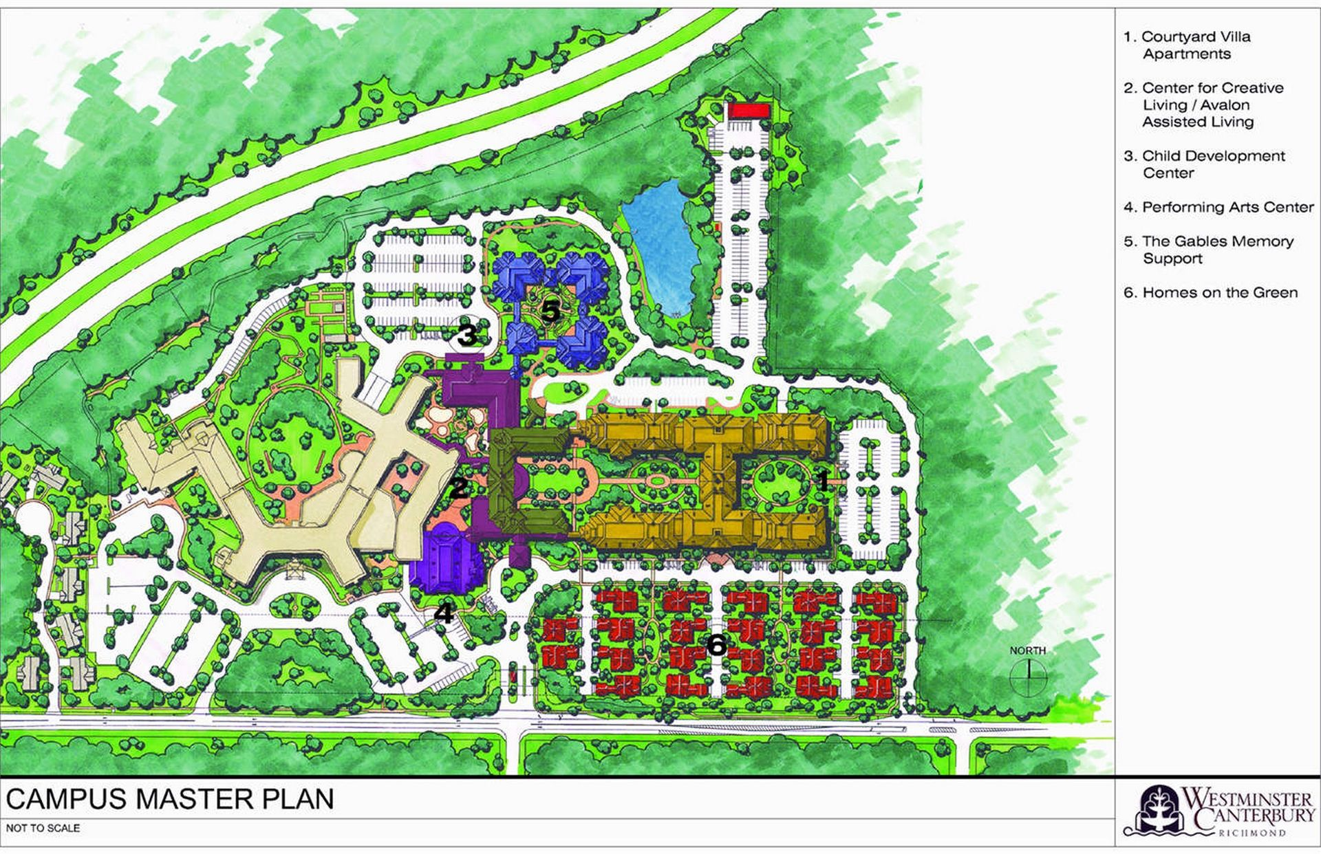 Westminster Canterbury Richmond CCRC Masterplan THW Design Senior Living