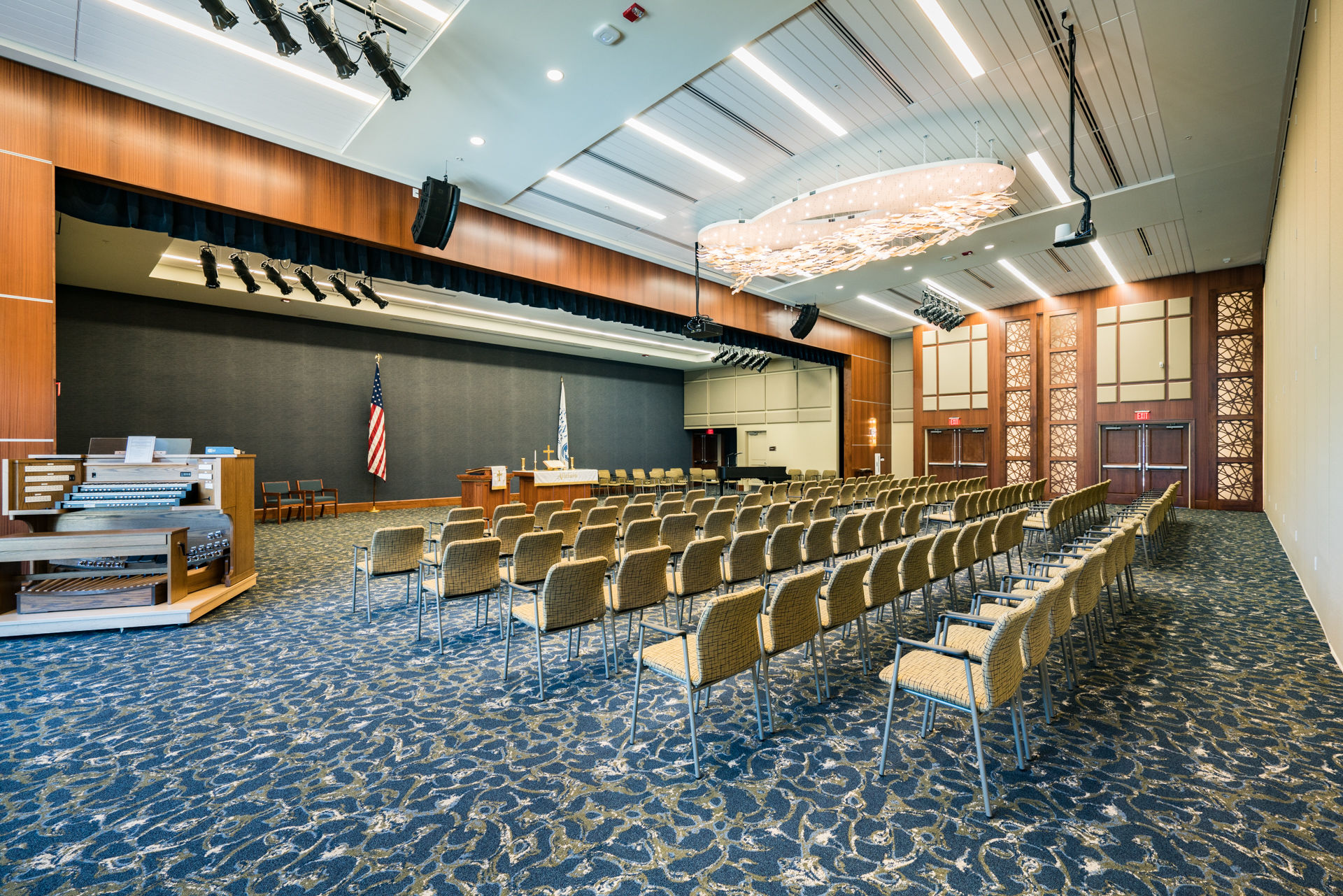 Rife Center Mechanicsburg Pennsylvania stage auditorium THW senior living architects