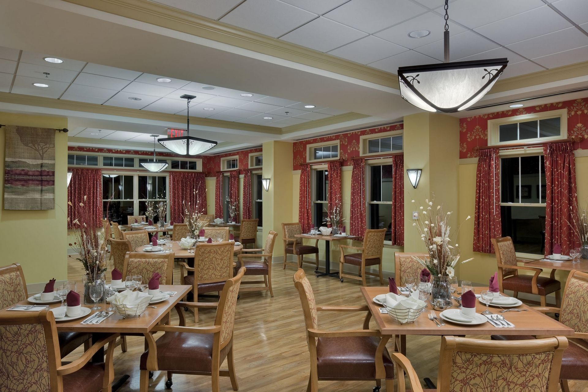 Deerfield Episcopal Retirement Community, Asheville, CCRC Design Senior Living THW Main Dining Room