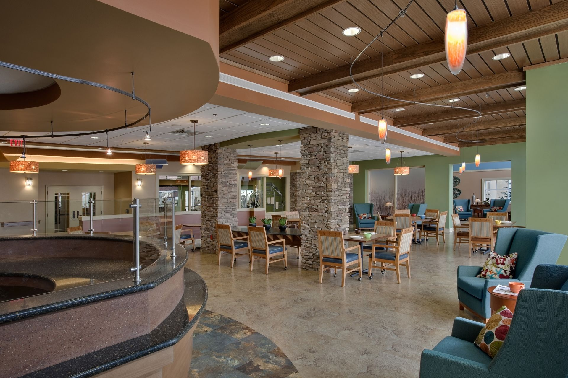 Deerfield Episcopal Retirement Community, Asheville, CCRC Design Senior Living THW Cafe