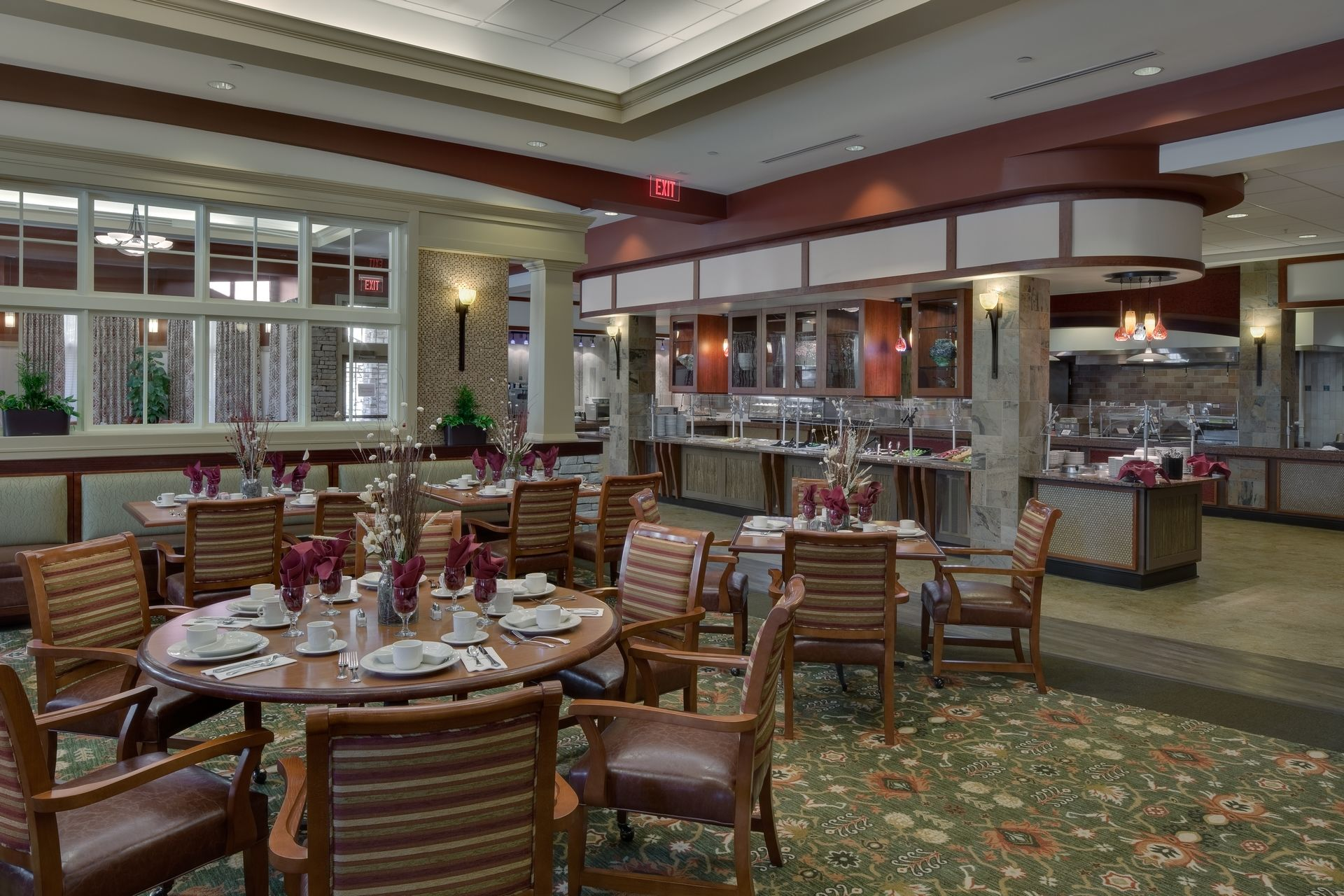 Deerfield Episcopal Retirement Community, Asheville, CCRC Design Senior Living THW Bistro Casual Dining