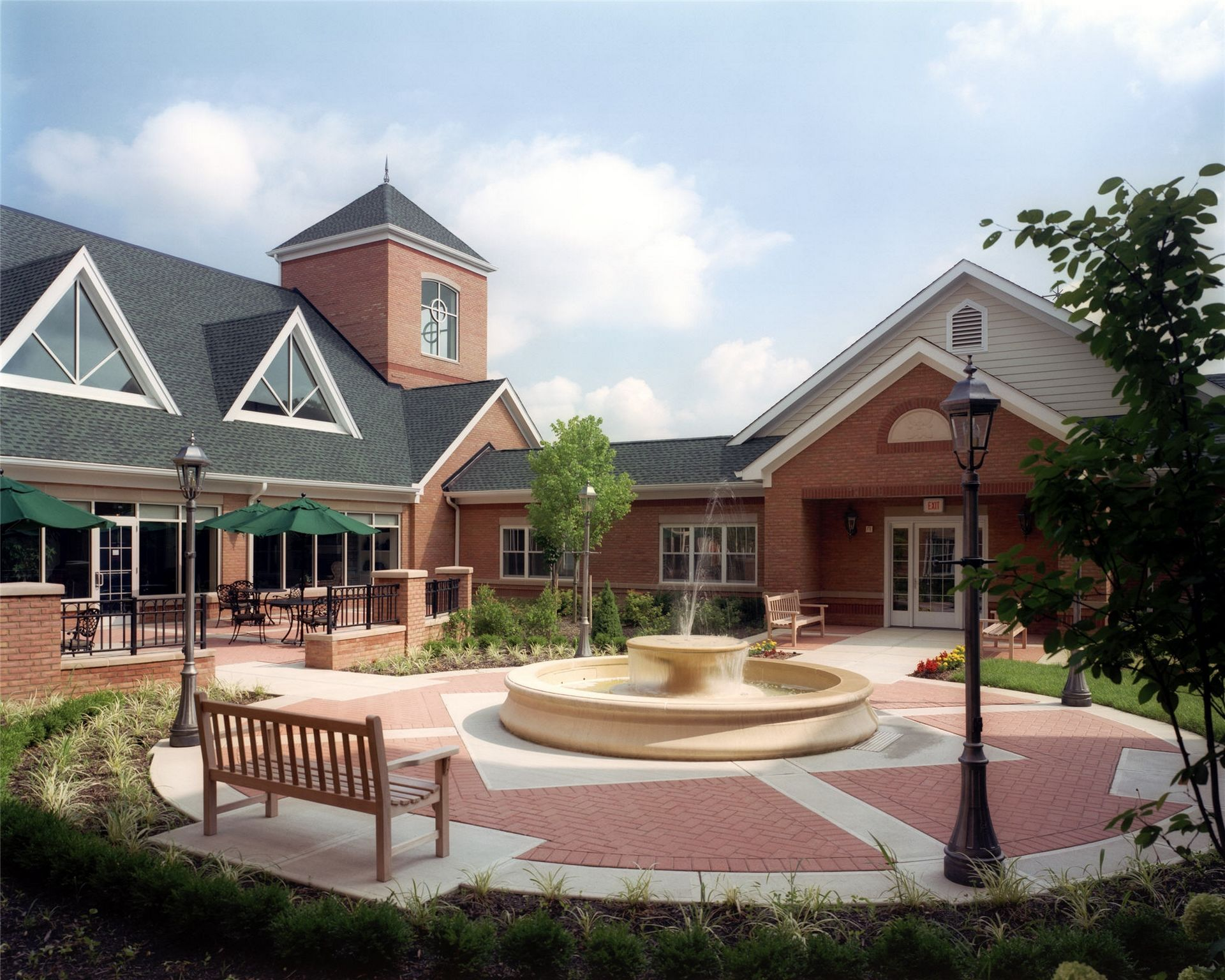 Skilled Nursing McCrory Manor THW Design Courtyard