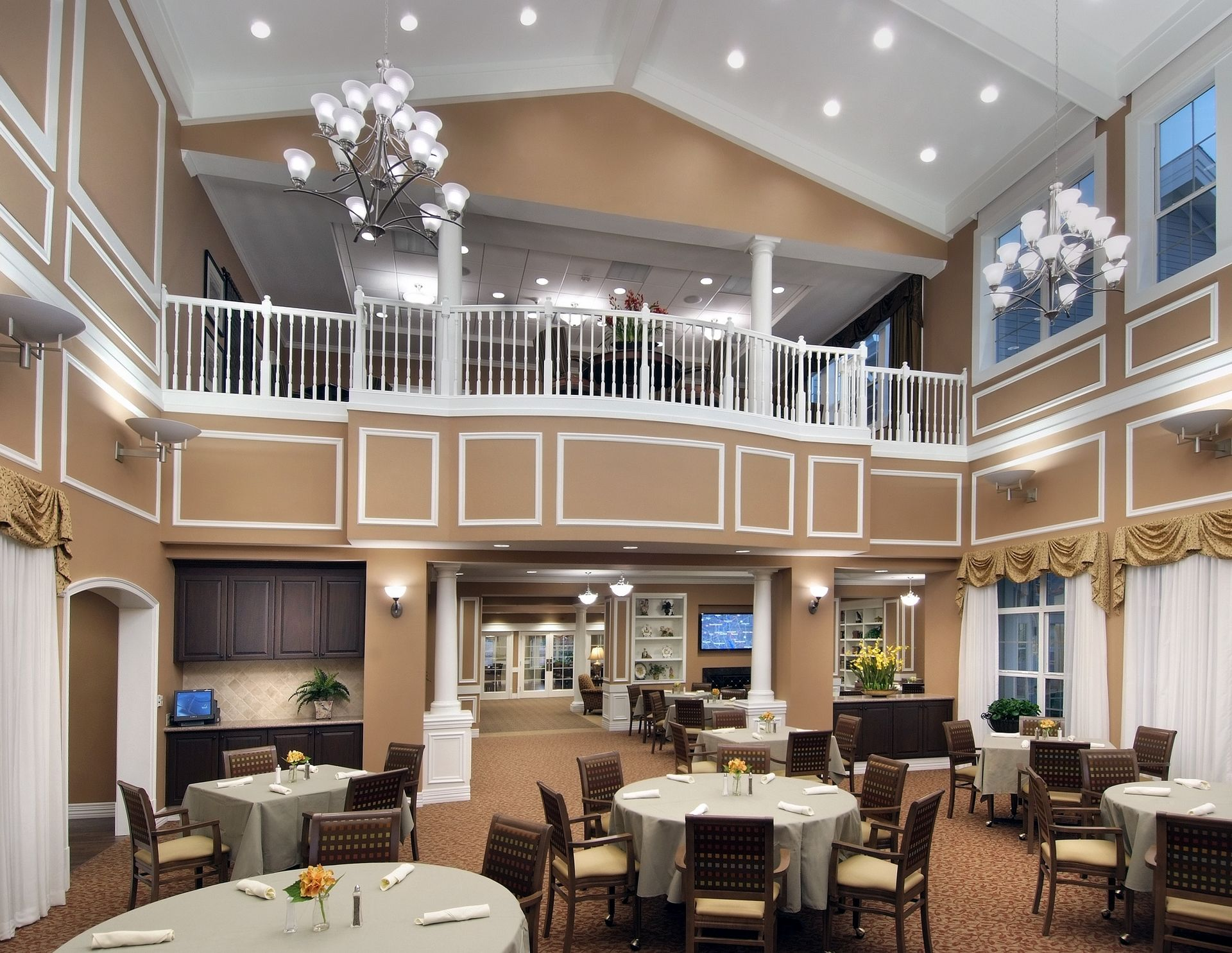 The Oaks of Louisiana CCRC THW Design Savannah Dining Room