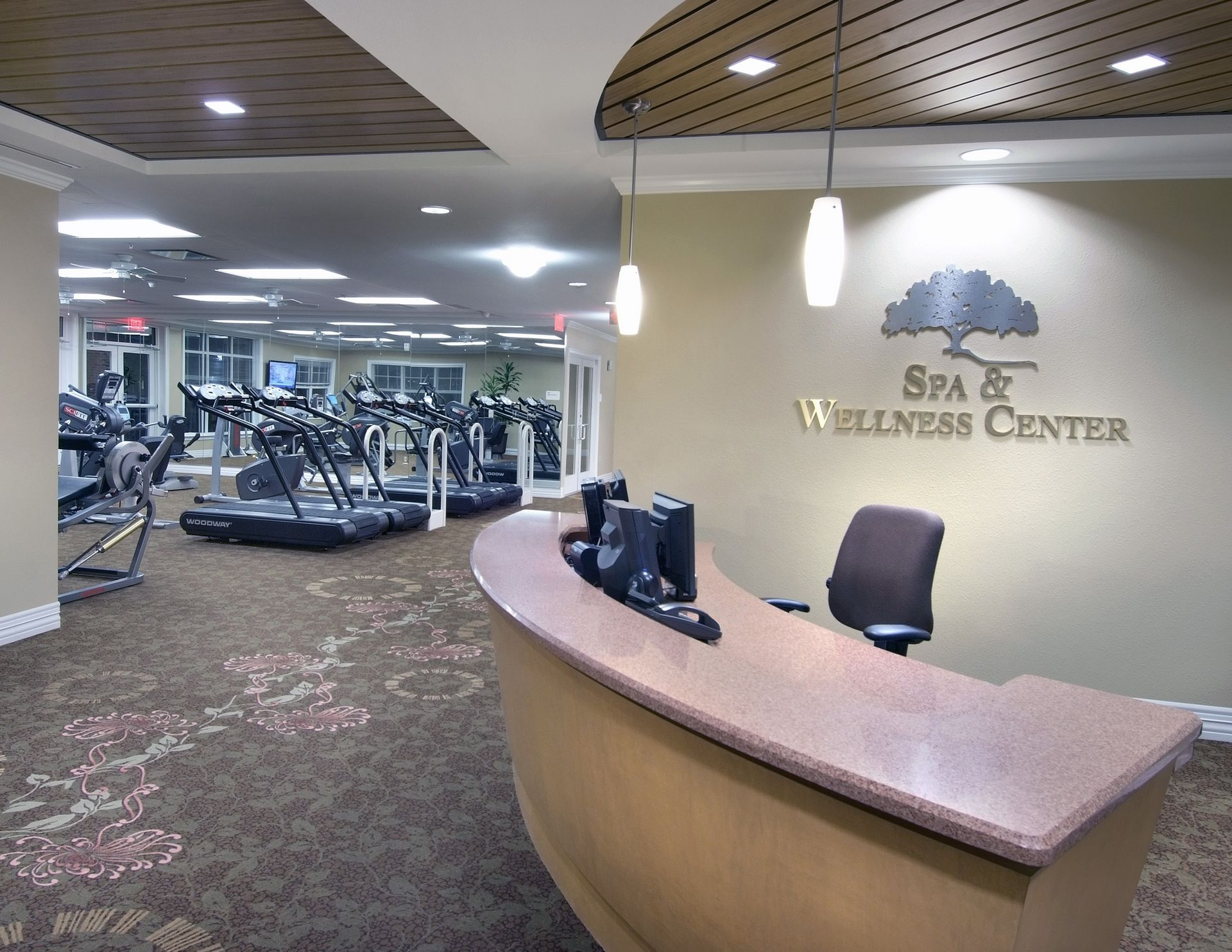 The Oaks of Louisiana CCRC THW Design Spa Wellness Fitness Center