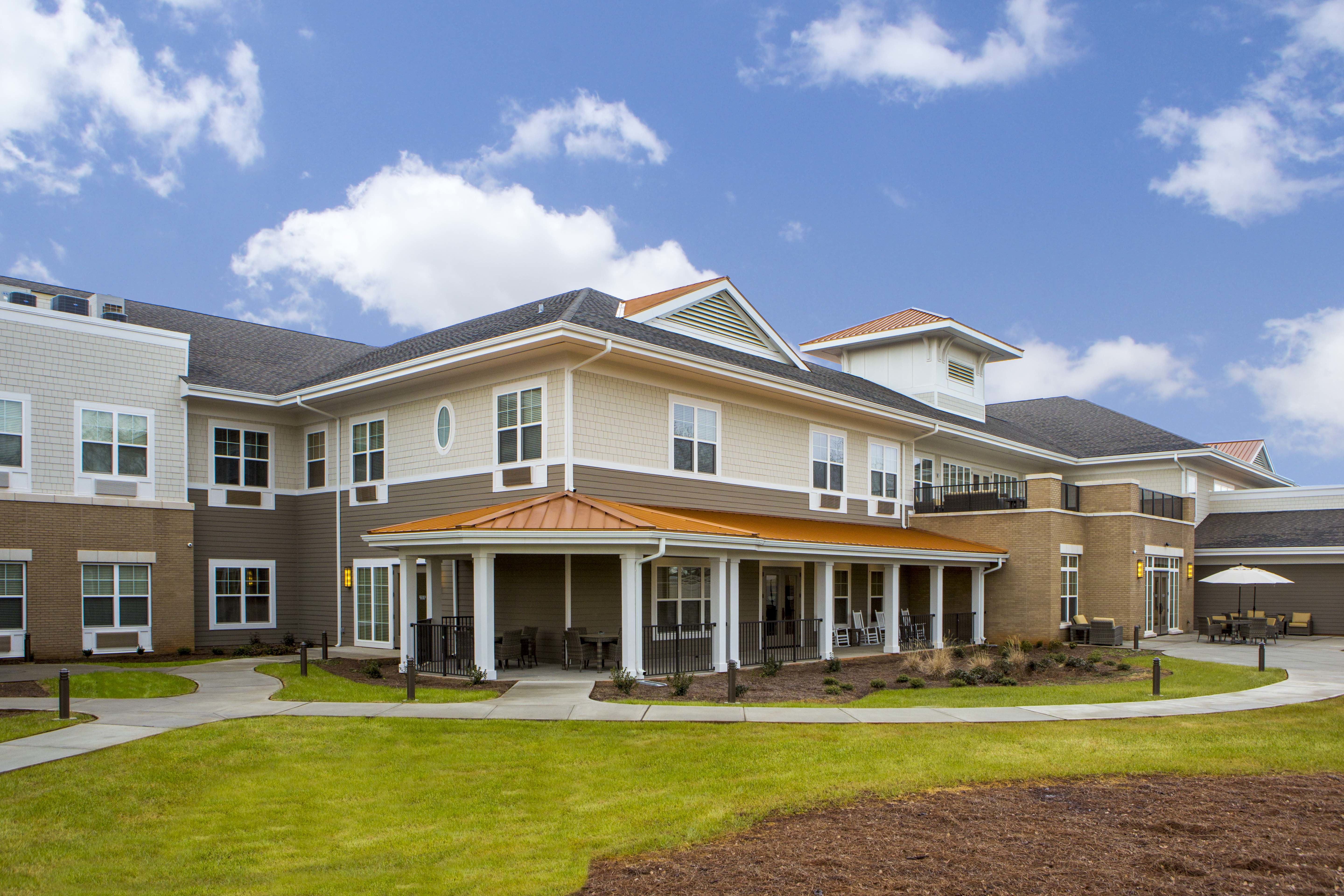 Greer Memory Care Design THW Design Exterior Courtyard