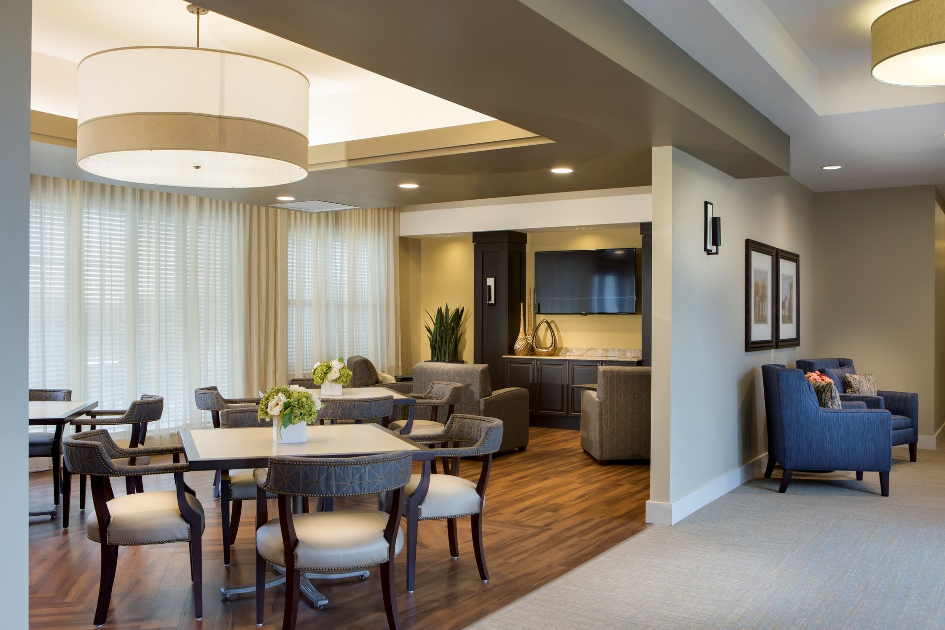 Greer Memory Care Design THW Dining and Cooridoor