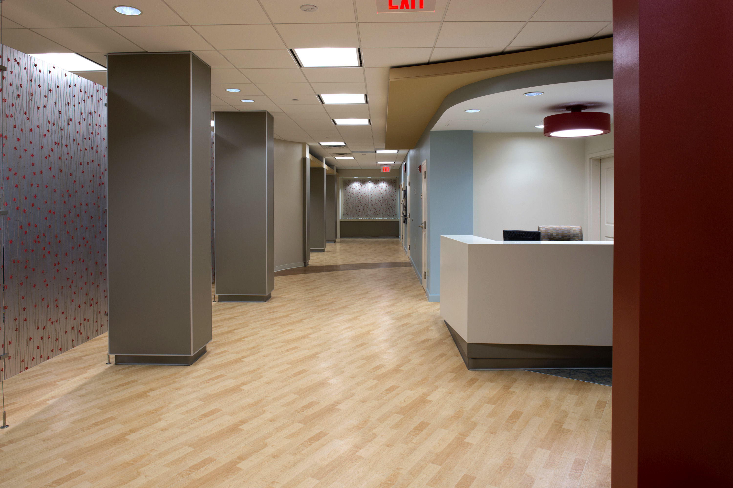 Wasserman Residence Physical Therapy/Rehabilitation Center Senior Living Healthcare Design Entry