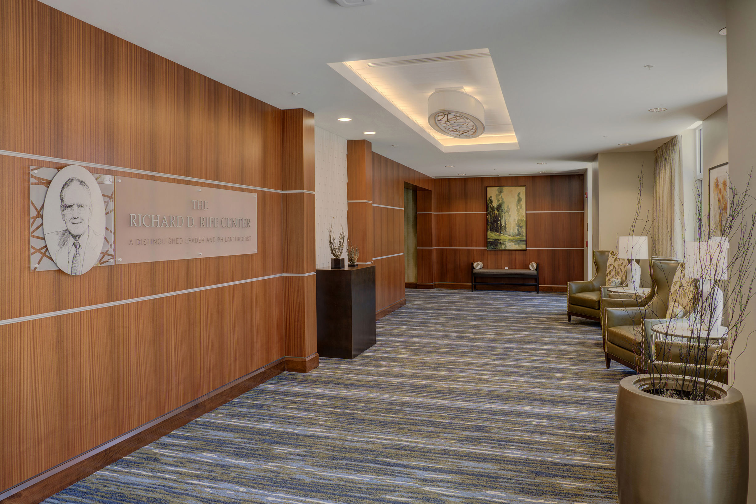 Rife Center Mechanicsburg Pennsylvania lobby vesitibule THW senior living architects